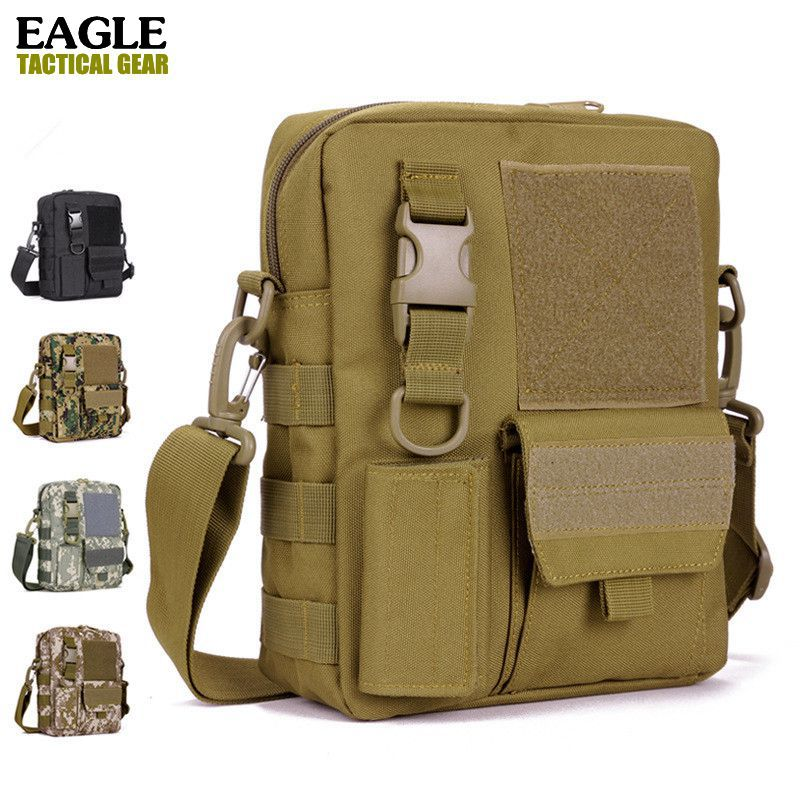 Waterproof Men tactical Messenger Bag, Casual Cross body shoulder bags for travel school nylon satchel Molle Military Army Gear(China (Mainland))