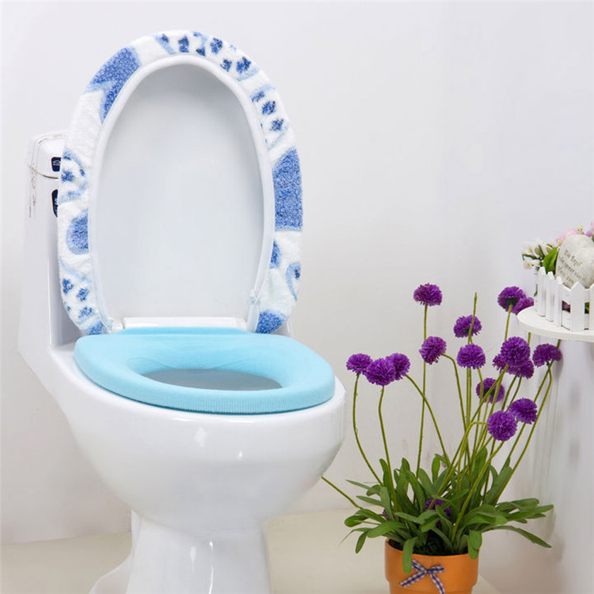 Zero Coral Fleece 2 Piece Set Potty Toilet Cover O Ring Toilet Mat(China (Mainland))