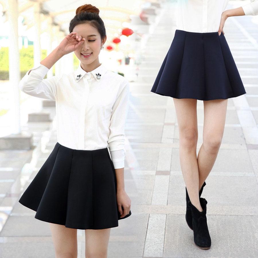 2015 Sweet all match bust short skirt half skirt pleated a ...