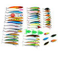 45 Pcs Pack Mixed 6 Style Fishing Lures Set Minnow Crankbait Soft Frog Cicada Insect Lure