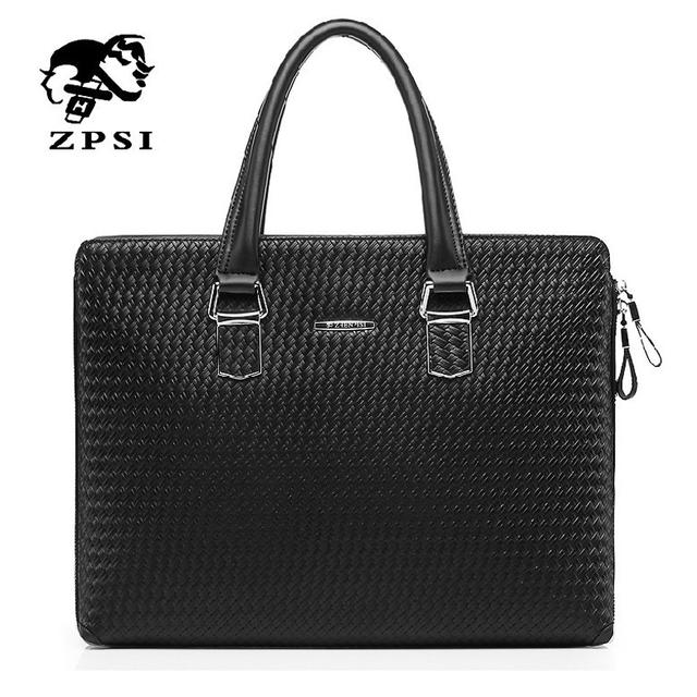 Новый 2014 высокое качество мужская сумка коммерческих мужской кожаный портфель мода ...