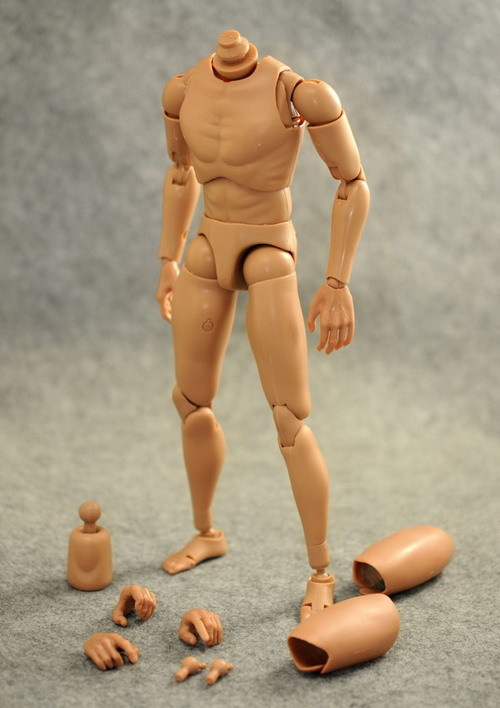 """HEADPLAY 1/6 """"male body Soldier narrow shoulders body history nude figure for 12""""collectible action figures in stock(China (Mainland))"""