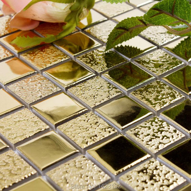 Oro porcellana mosaico adesivi per piastrelle del - Pavimenti in piastrelle di ceramica ...