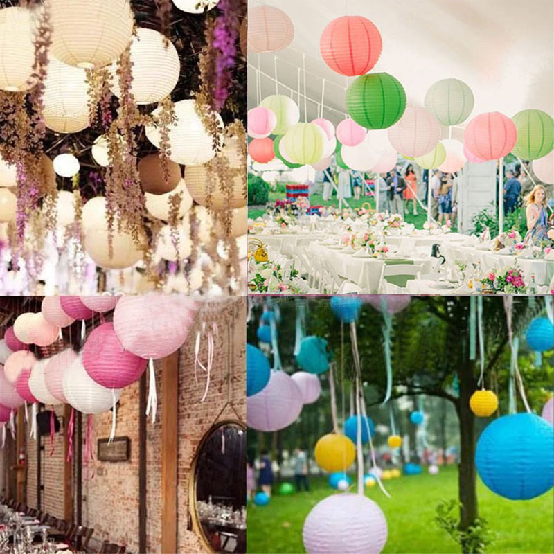 "Hot 12 Colors 15cm(6"") Round Chinese Paper Lanterns Lamp Festival Wedding Decoration Party Free Shipping(China (Mainland))"