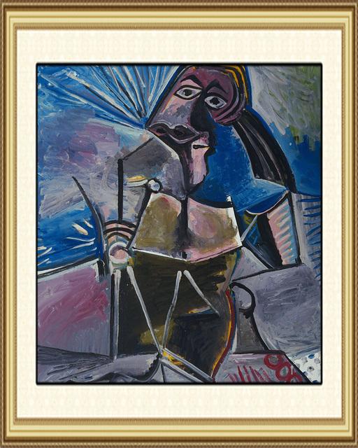 Belle toile peinture l 39 huile bleu peinture abstraite art for Materiel peinture a l huile