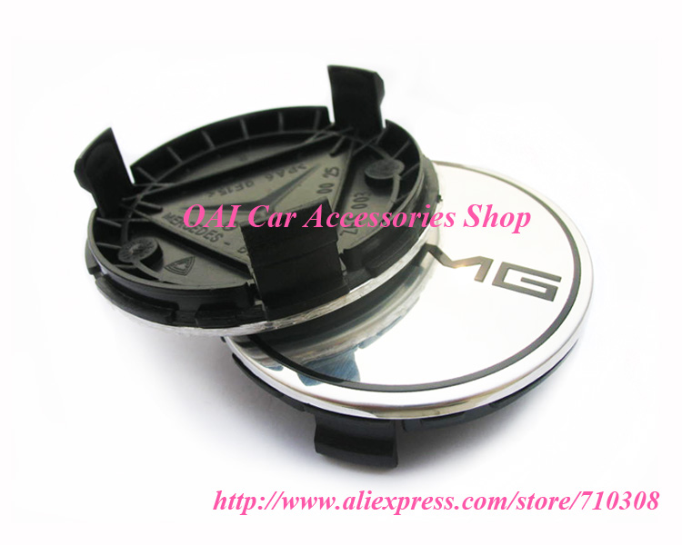 Car Wheel Cap Genuine Mercede Benz AMG Silver Alloy Wheel Center Hub Cap Cover 3D Emblem Badge Ultra-High Quality 75MM 4pcs(China (Mainland))