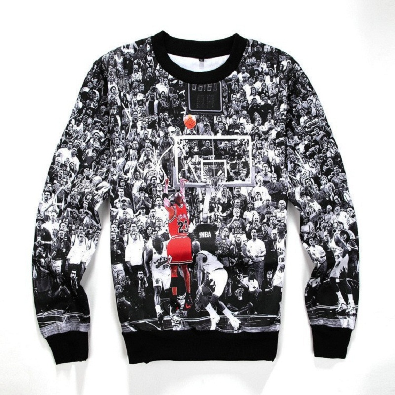 Jordan Hoodie 3D printed Scarpe Jordan Flight Crewneck Sweatshirt Last Shot Basketball Harajuku Men/Women Pullover Hoodies(China (Mainland))