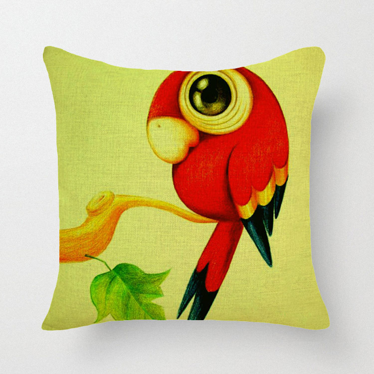 New Hot Nordic Chair Pillow Personality Creative Handsome Nap pillow Cover Cute seat cushion Lovely Birds&Goldfish(China (Mainland))
