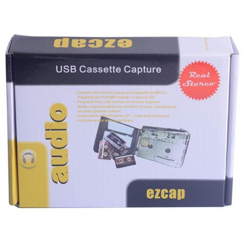 30pcs/lot Portable USB Cassette Player Capture Cassette Recorder Converter Tape to MP3 Auto Reverse Stereo Hi-Fi Mega Bass(China (Mainland))