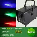 2pcs lot mini 400W RGB Wireless remote control fog machine pump dj disco smoke machine weedding