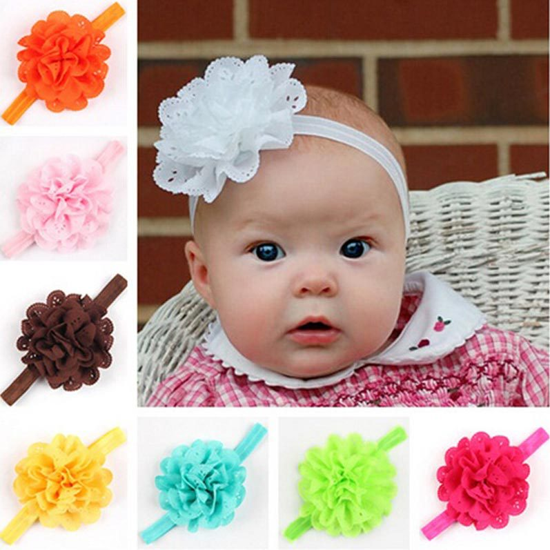 baby flower headband infant toddler girls flower hair bow