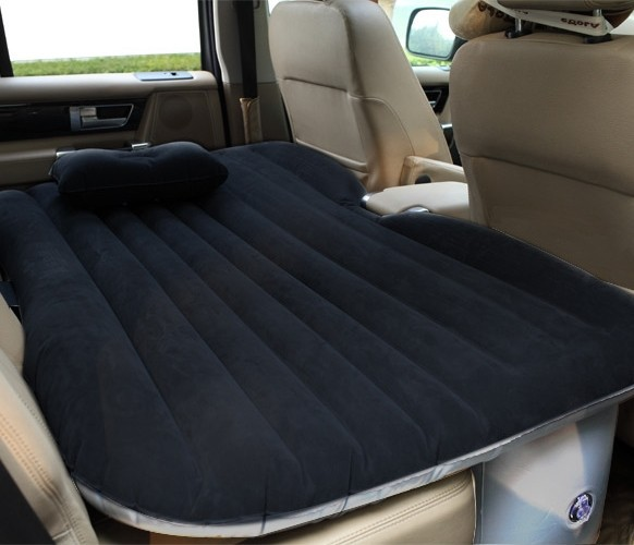 Pping Cars Back In Bed Inflatable Mattress Flocking Luxury