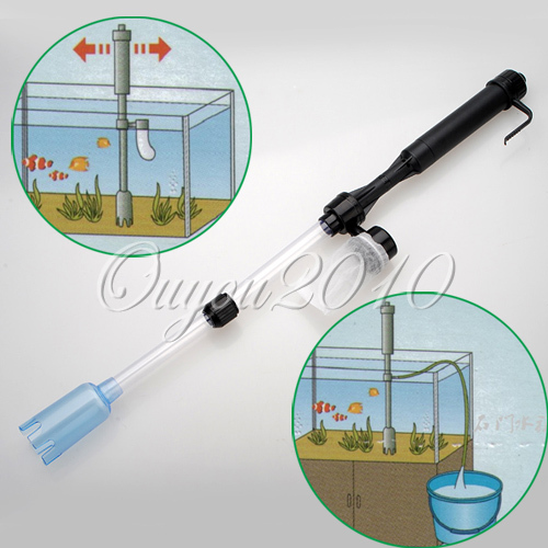 Siphon Aquarium Battery Syphon Auto Fish Tank Vacuum Gravel Water Filter Cleaner Washer Free Shipping(China (Mainland))