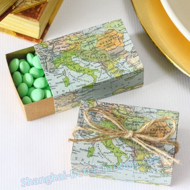 Shipping 336pcs World Map Favor Box TH031 A0 Unique Wedding Gift Ideas ...