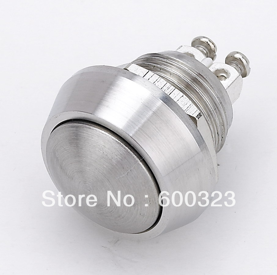 Stainless steel Momentary Push button Switch V12(dia.12mm) Screw terminal<br><br>Aliexpress