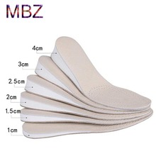 2016 new style brand mens elevator height shoes lift height insoles leather anti slip shoe pads Foot Care for Men and Women 483