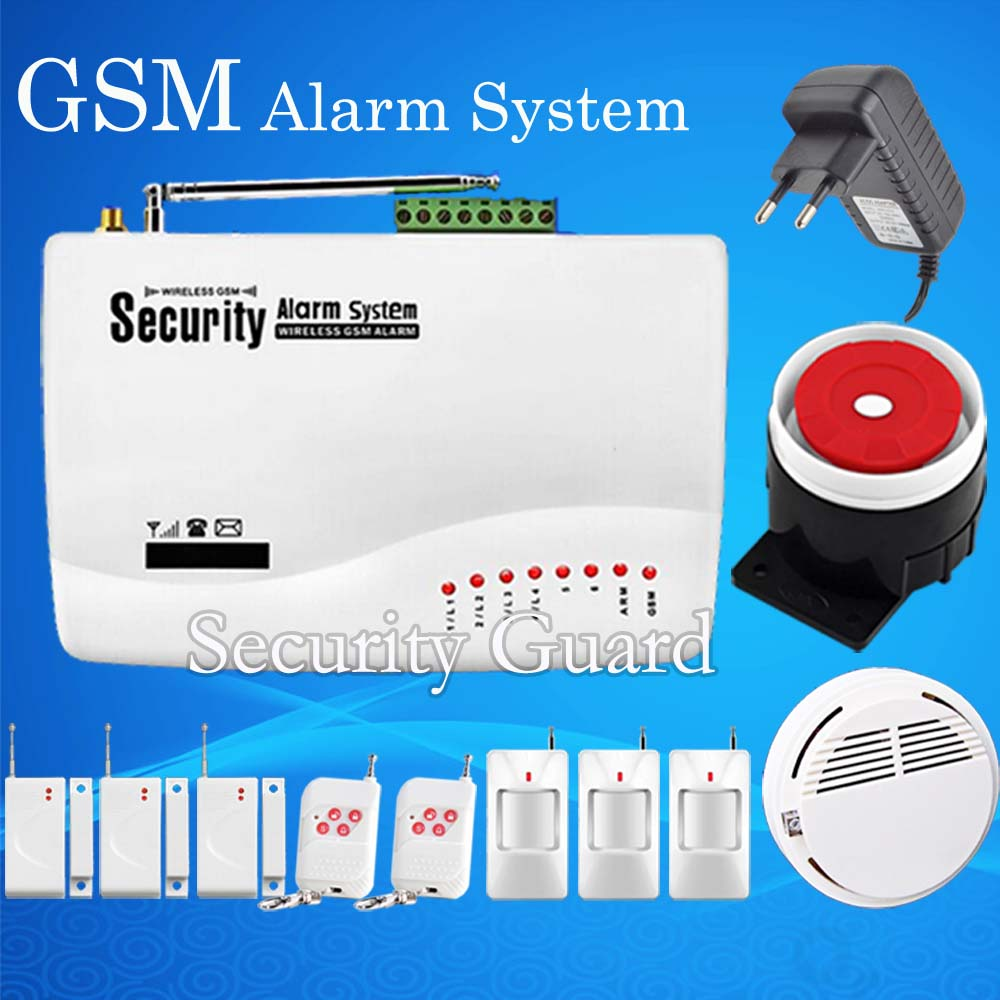 hot selling 2015 new free shipping 433mhz wireless home burglar security gsm alarm system smoke. Black Bedroom Furniture Sets. Home Design Ideas