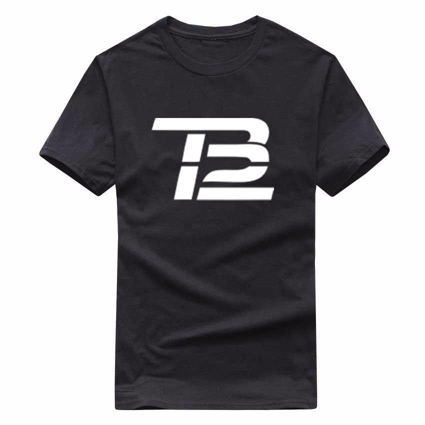 Summer Casual man t shirt good Quality print men cotton t-shirt Mens Tom Brady TB12 T Shirt Tee K42(China (Mainland))