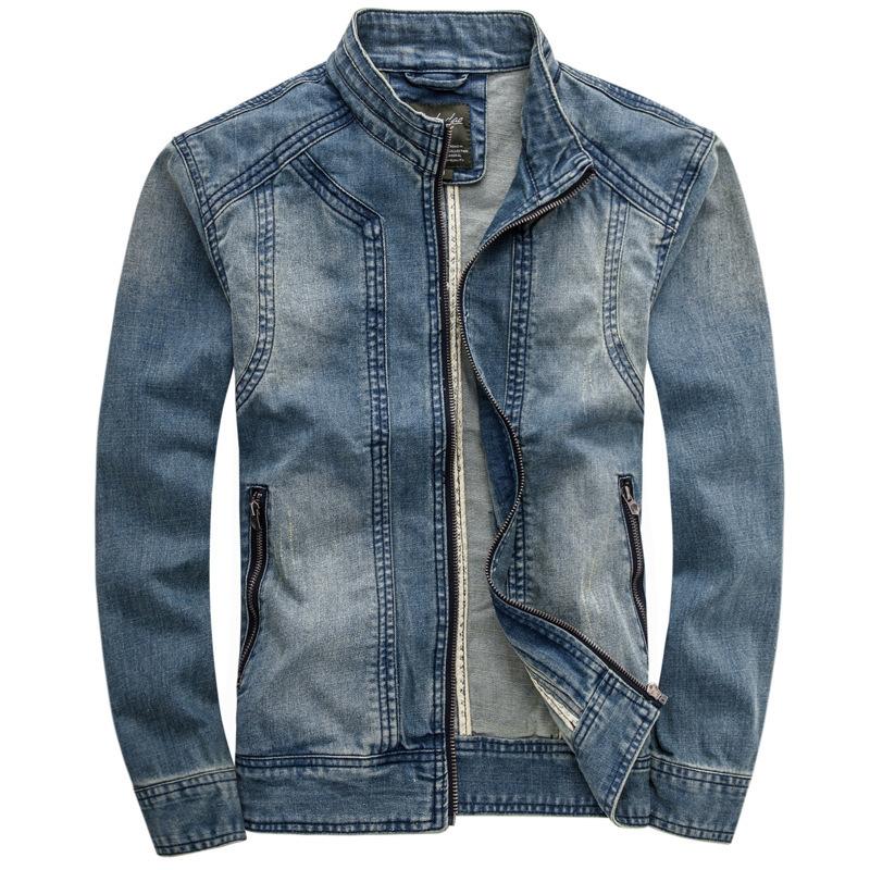 2015 Mens Jeans Jacket UK Simple Style Slim Fit Jean Coat ...