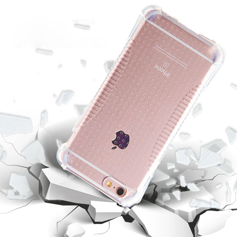 Cheap New Crystal Air Sac Clear Case for iPhone 6 6S Plus Cover Camera Protection Anti Knock Perfect Style Soft TPU Gel Case(China (Mainland))