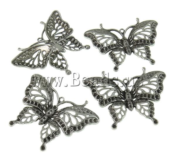 Free shipping!!!Zinc Alloy Pendant Settin Butterfly,Female Jewelry, antique silver color plated, nickel, lead & cadmium free