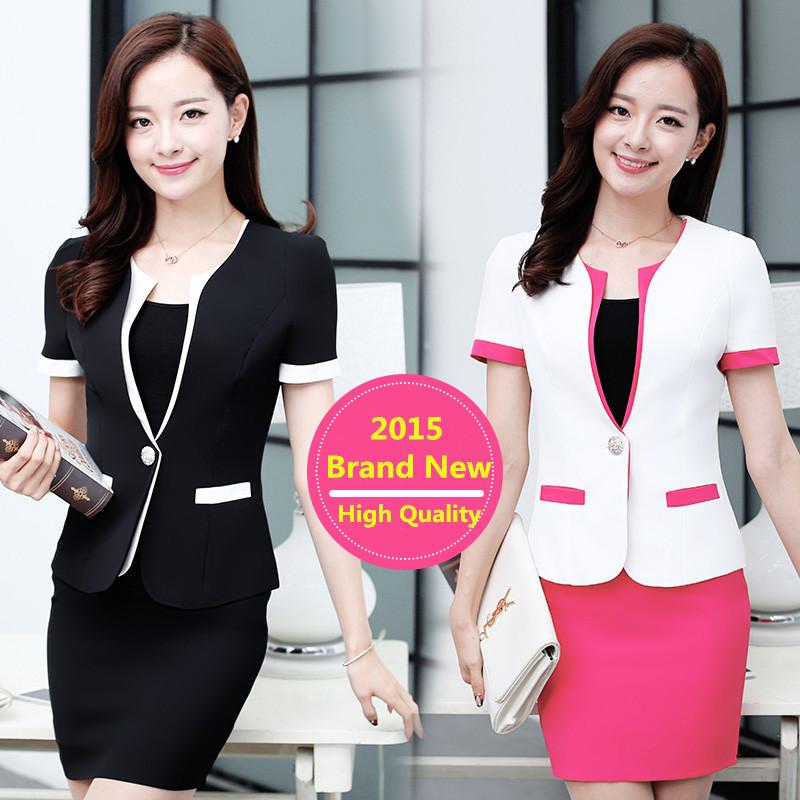 Candy Color Skirt Suits Women Office Uniform Designs High Quality Women New Office Uniform Style Work Elegant Blazer Feminino(China (Mainland))