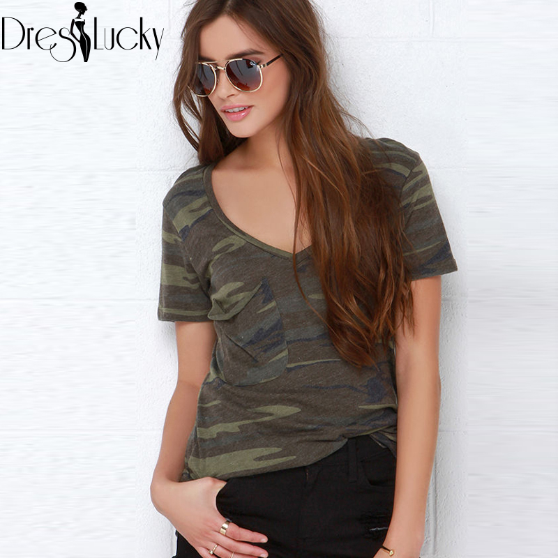 Summer Style Camouflage t shirt 2016 New Casual Female T-shirt Short Sleeve T-shirts for Women Tops Plus Size Clothing haoduoyi(China (Mainland))