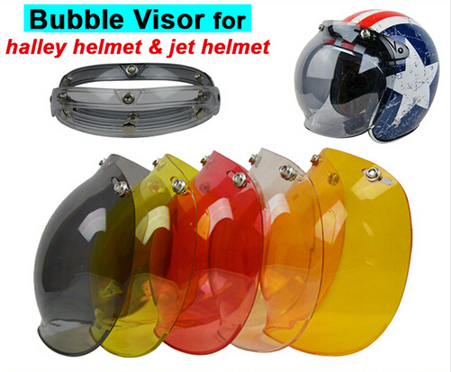 (1pc&5Colors) Hot Sales!!EVO Motorcycle Helmet Visor Jet Retro Hallar Vintage Bubble Visor Half Face Helmet Mask Accessories(China (Mainland))