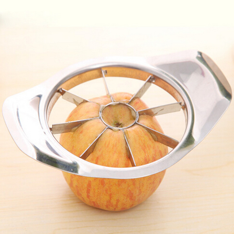 1PCS 2015 Stainless Steel Fruit Vegetable Apple Pear Slicer Kitchen Cutter Corer Tool Free Shipping(China (Mainland))