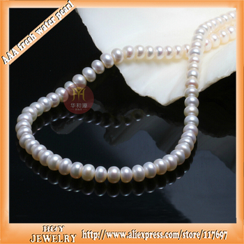 classic style 46cm 18inch Large freshwater 10.5-11mm beads chokers necklace witht small gift box and certificate