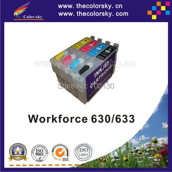(RCE1401) refillable refill ink cartridge for Epson T1401 - T1404 T140 T 140 Workforce 630/633 Stylus Office TX620fwd free DHL