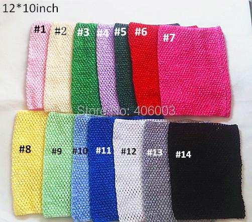 12*10 Lined Crochet Headband Baby Girl Crochet Waffle Tutu Top Tube Tops Knitted Headbands<br><br>Aliexpress