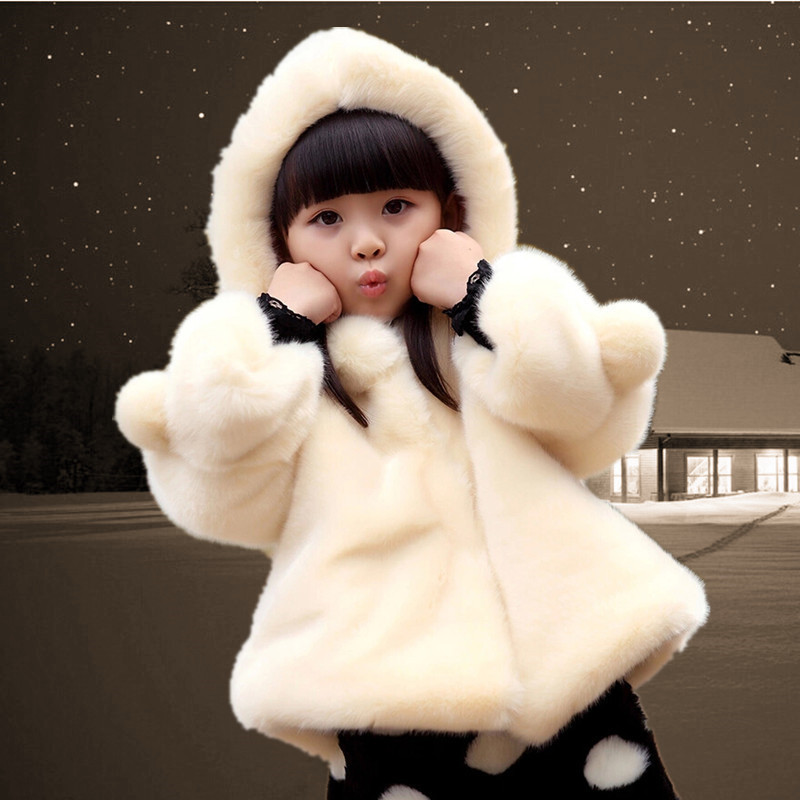 Autumn Winter Girls Jackets Thick Warm Baby Girls Outerwear 2-16 Years Kids Girls Faux Fur Coat Children Family Matching Outfits(China (Mainland))