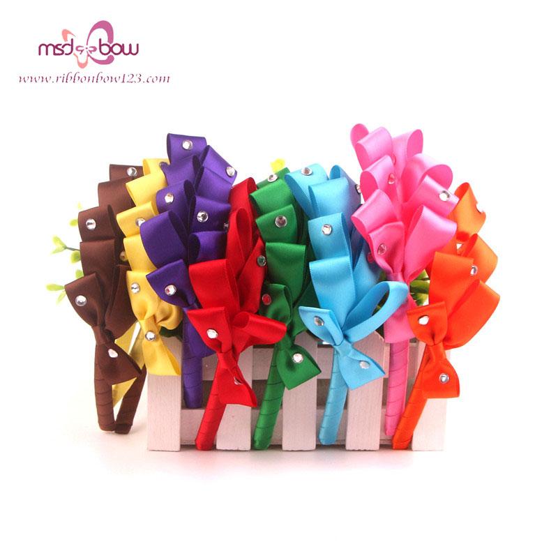 Newest Cute Flower Headbands 8 Colour / Set Acrylic Material Diamonds Kids Hair Bands Girl Joker Hair Accessories FG01008(China (Mainland))