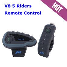 Au, reino unido, ee.uu. barco! 1 unid 1200 M BTI 310--7578 BTI Bluetooth casco de moto de intercomunicación V8 para 5 Rider Talk al mismo tiempo de Control remoto NFC FM(China (Mainland))