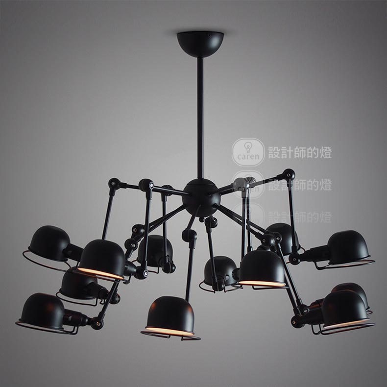 acheter vintage loft lustre 12 lumi res araign e lustre clairage industriel. Black Bedroom Furniture Sets. Home Design Ideas