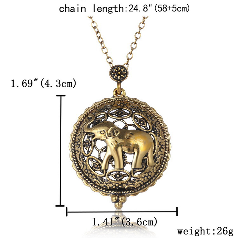 Life Tree Cat Map Pendant Necklace Art Magnifying Glass Cabochon Necklace Bronze Chain Vintage Statement Necklace Women Jewelry