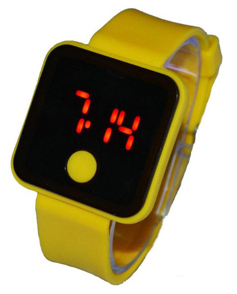 Fashion Home Button Electronics Sport Children LED Watch Waterproof Brand Reloj Silicone Running Clock Kids Digital Wristwatches(China (Mainland))