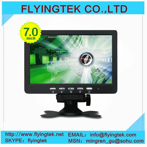 7 inch CCTV TFT LCD Monitor Security Monitor Switch Display Mode + Remote Control