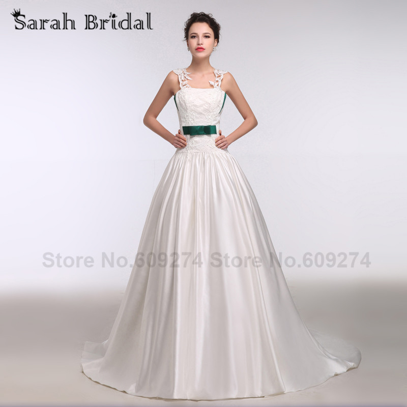Gallery For Dark Green And White Wedding Dresses