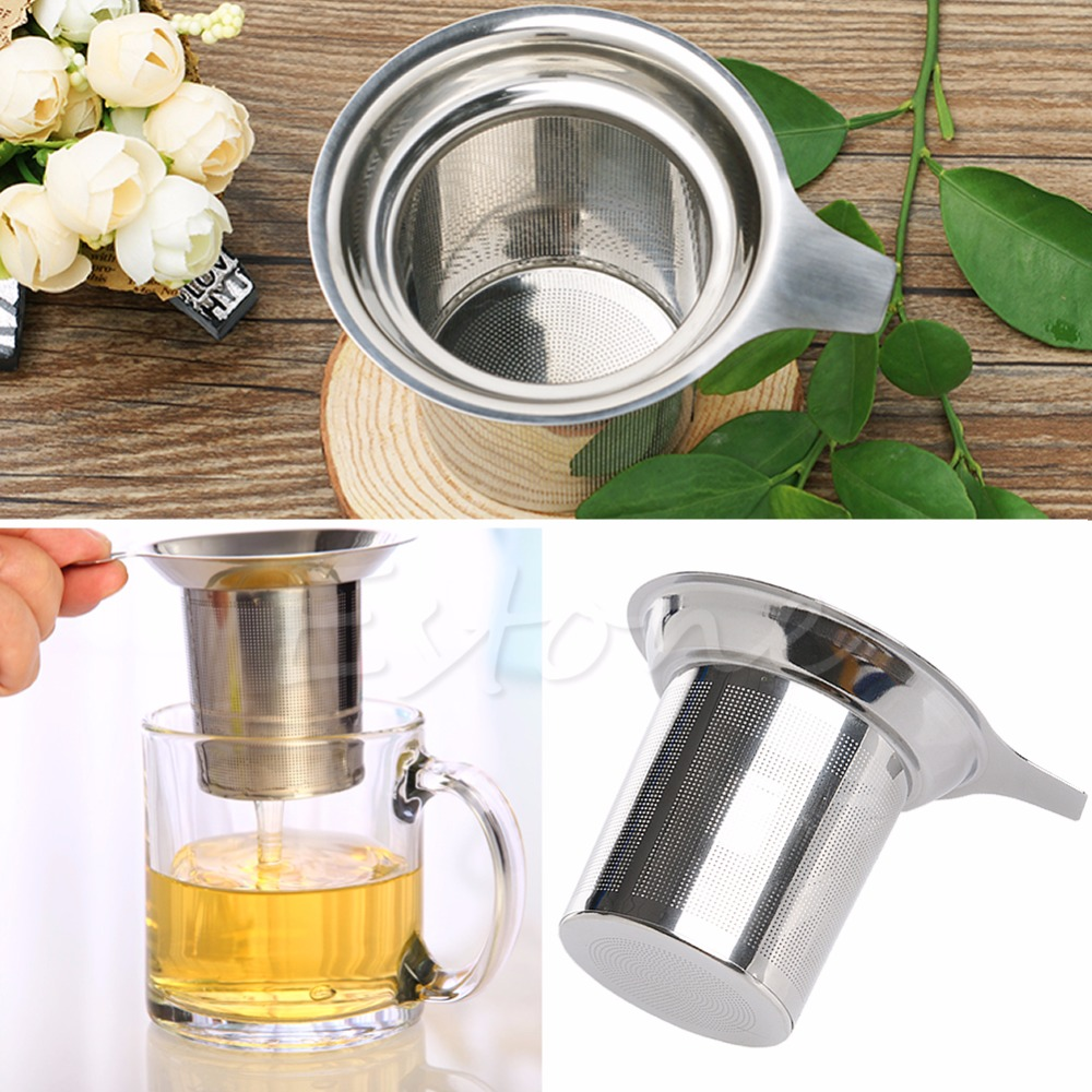 A96 Stainless Steel Mesh Tea Infuser Reusable Strainer Loose Tea Leaf Spice Filter(China (Mainland))