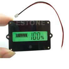 Free Shipping 1PC Battery Capacity Tester Indicator For 12V Lead-acid Lithium LiPo LCD New(China (Mainland))