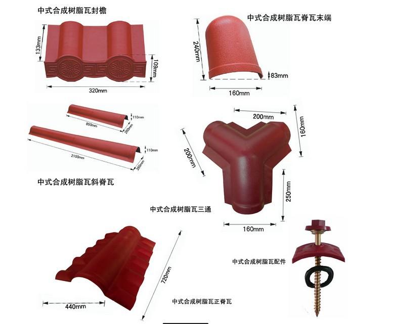 Synthetic resin tile ASA synthetic resin tile fasteners tee is ridge tile eaves tile imitation glazed tile<br><br>Aliexpress