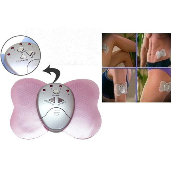 Mini Slimming Pink Body Electronic /muscle Massager Butterfly Design Hot Sell(China (Mainland))