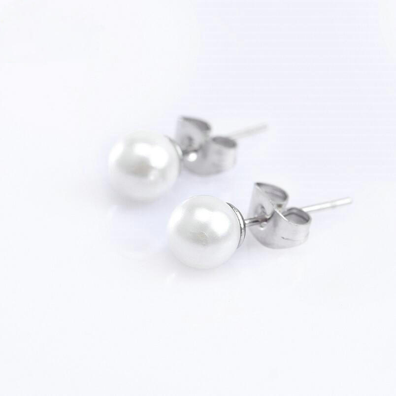 2016 Pear Cluster Flower Shape Hang Shell Pearl Top Quality Cubic Stainless steel Bridal Earring(China (Mainland))