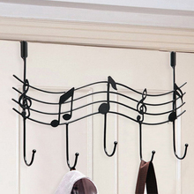 Home Bathroom Kitchen Coat/Hat/Bag Metal Music Style Hook Hanger Organizer Decor Wall  Hanger  Iron  45.5*26CM (China (Mainland))