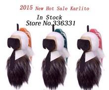2015 новый горячая распродажа багажа бирку 18 см Karlito Высокое качество в режиме реального животного сеточка для волос ремень сумочка ремень бесплатная доставка