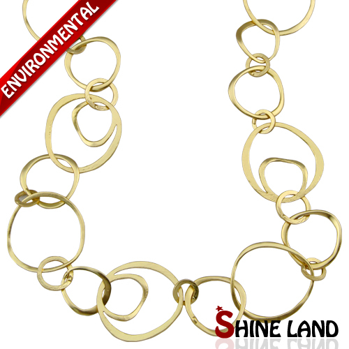 2015 New Fashion Ethnic Gold Silver Plated Charms Long Chains Necklace Luxury Jewelry for Women K13432