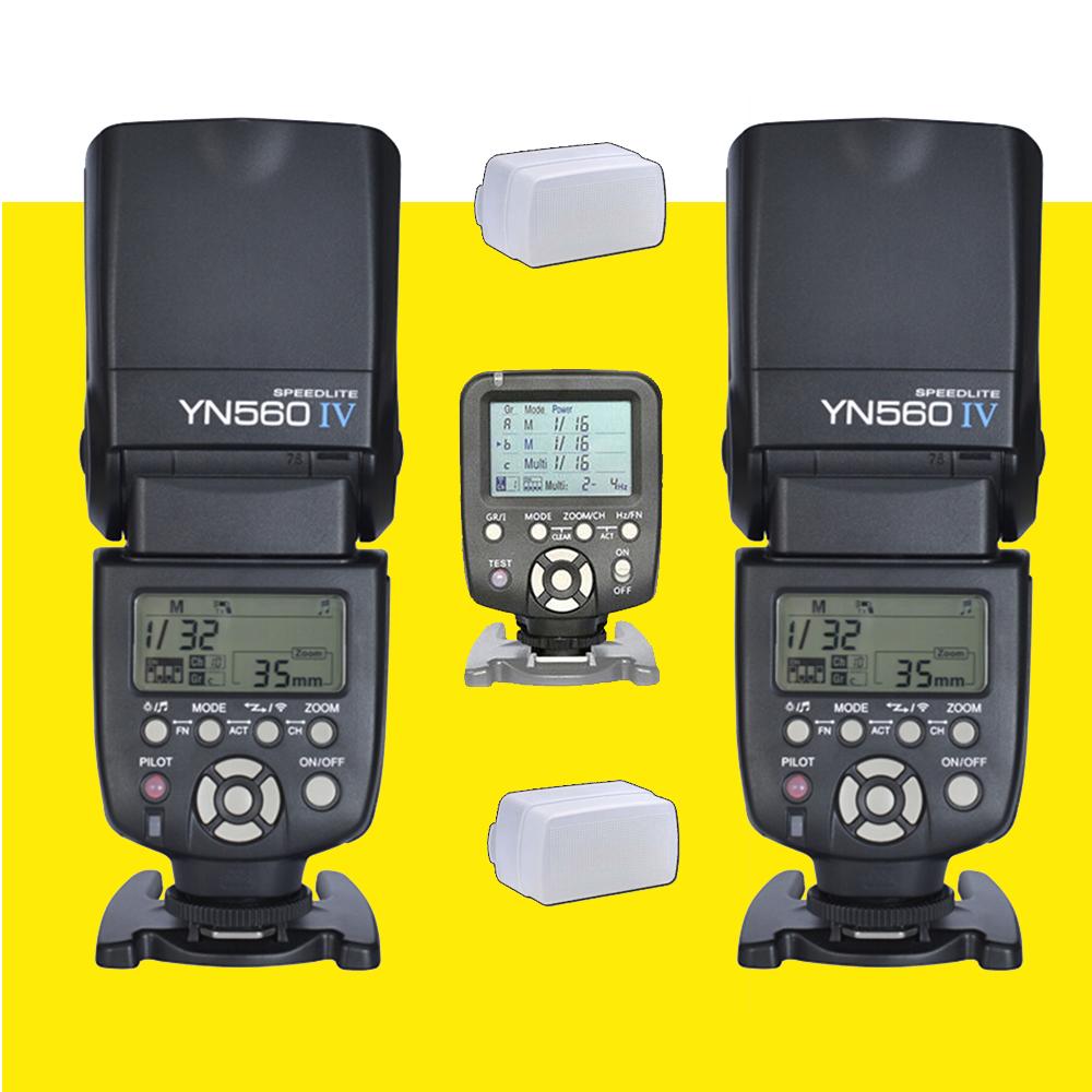 Yongnuo 1 x YN560TX LCD Wireless Flash Controller + 2 x YN560 IV Flash Speedlite For Nikon DSLR Camera<br><br>Aliexpress