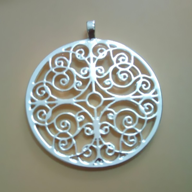 Mandala of Understanding pendant  Silver/Gold  plated necklaces & pendants With 60 cm box chain  for women